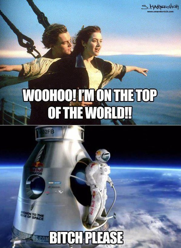 I'm on top of the world!