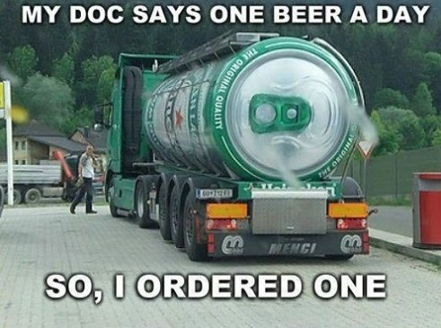 One beer a day