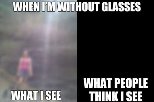 People with glasses can relate