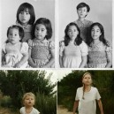 Recreating childhood photos