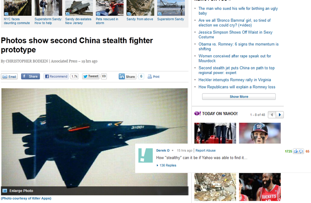 Second China Stealth Fighter