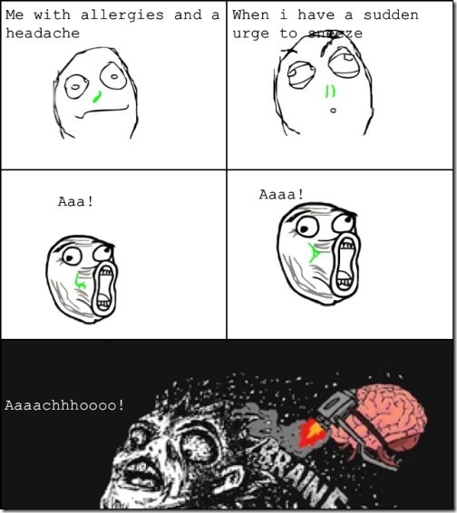 Sneezing with a Headache