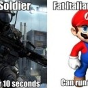 Soldier vs. Super Mario