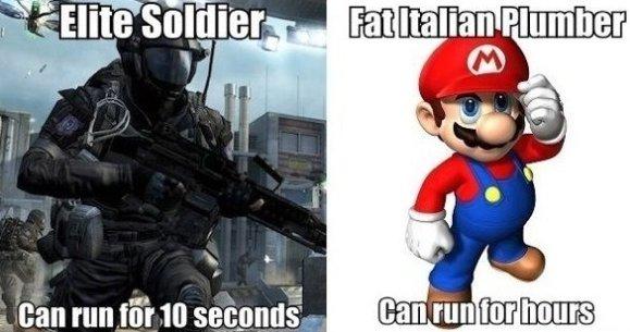 Soldier vs. Super Mario