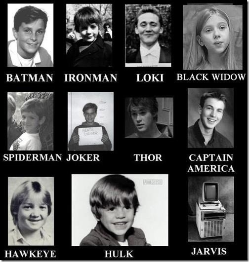 Superheroes as Kids