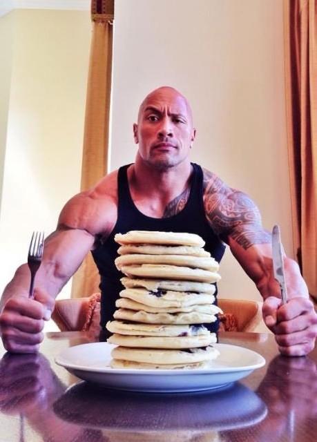 The Rock vs. Pancakes