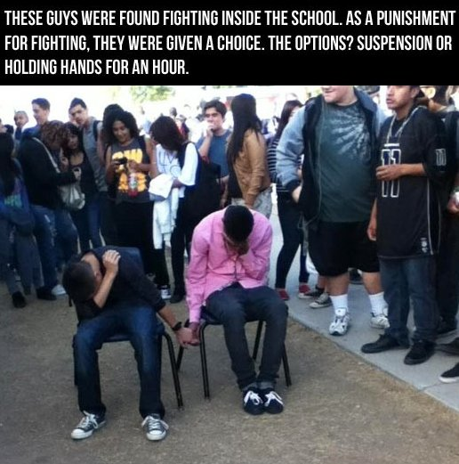 The best punishment for fighting