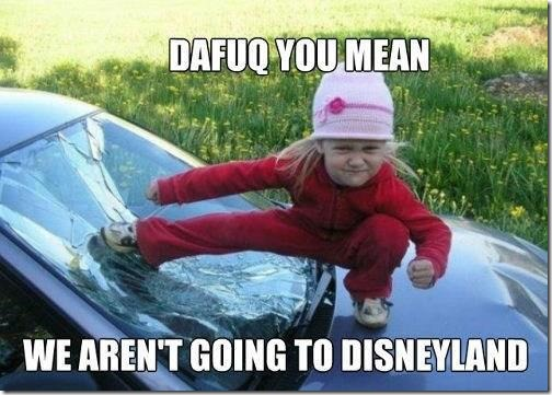 We are not going to Disneyland