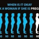 Ask a women if she is pregnant