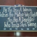 By that Time a Woman Realizes…