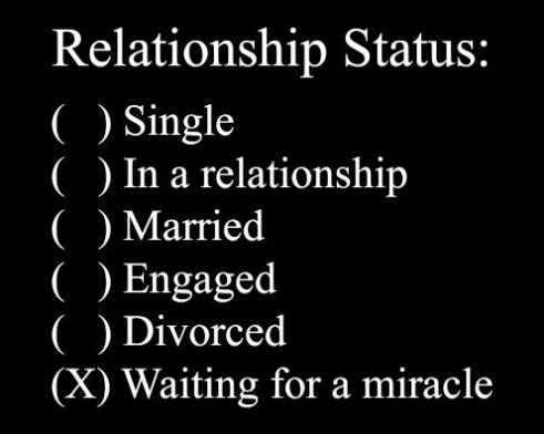 Define your relationship status