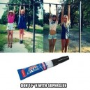 Don't mess with super glue
