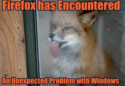 Firefox has encountered an error