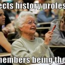 Grandma in school