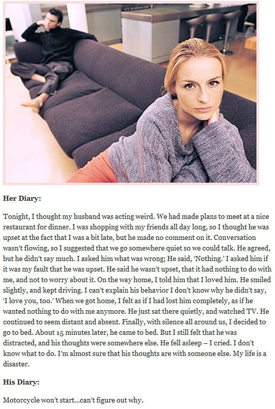 Her vs. His Diary