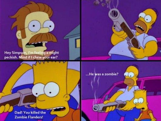 Homer during Halloween