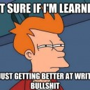How I feel about writing papers in college
