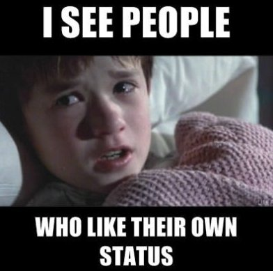 I see people