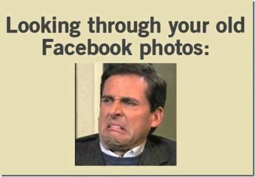 Looking through your old Facebook photos