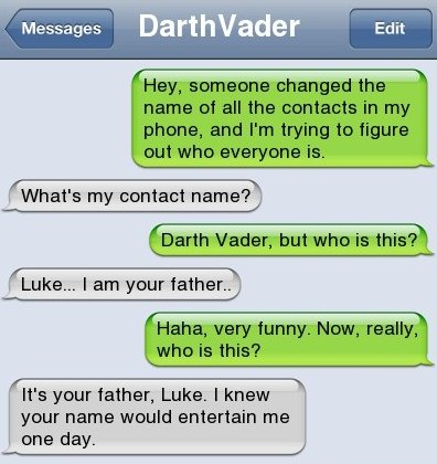 Luke I'm your father