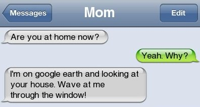 Mom and Google earth