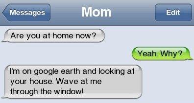 Mom and Google earth
