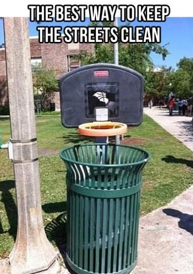 No more trash on the streets
