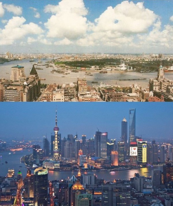 Shanghai 1990 and 2010