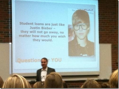 Student Loans are just like Justin Bieber