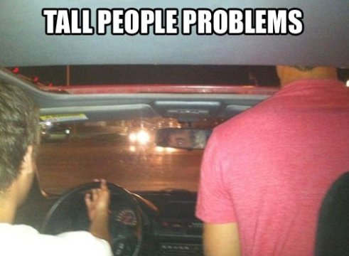 Tall people and their problems