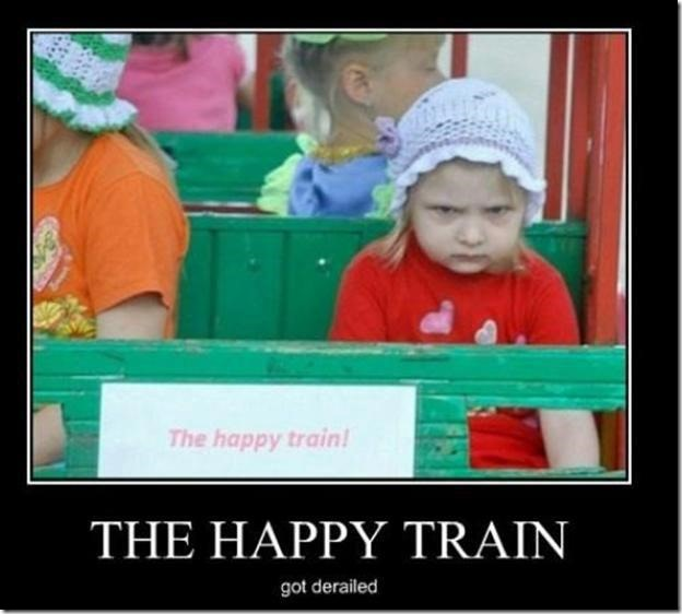The Happy Train Got Derailed