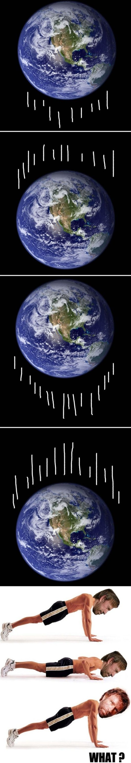 The earth is moving