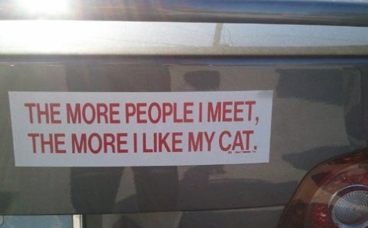 The more people I meet…