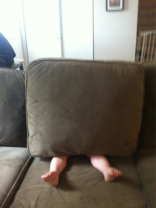 This is how my little cousins play hide n' seek