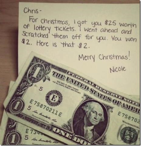 What Nicole got for Chris on Christmas