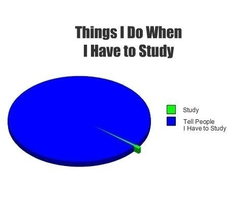 When I have to study