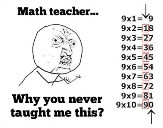 Why, Math teacher! Why!