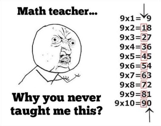 Why, Math teacher! Why!