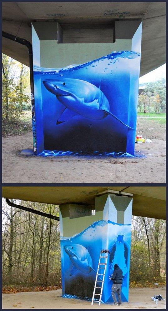 Amazing Shark Graffiti