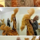Animals out of wood shavings