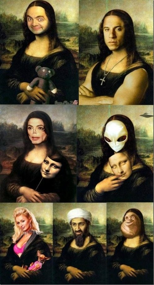 Funny Pictures – Mona Lisa Trolled