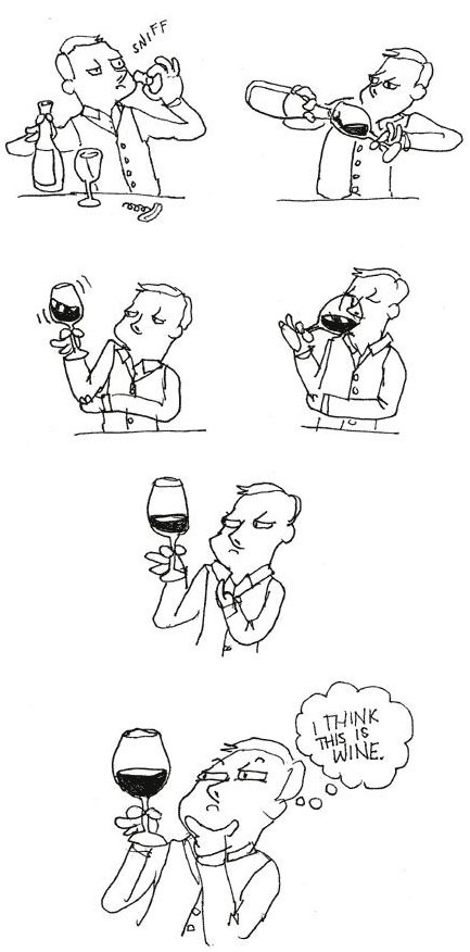 How I taste wine