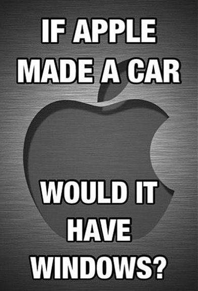 If Apple made a car