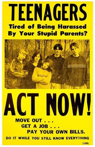 Teenagers, act now!