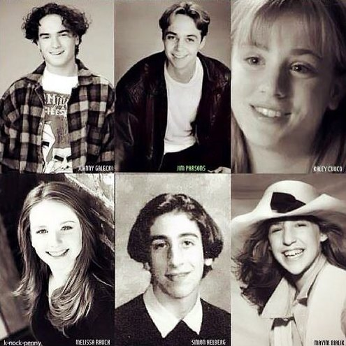 The cast of The Big Bang Theory as kids