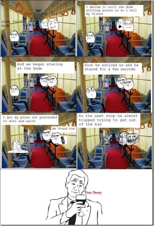 Trolling in the Bus