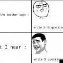 What The Teacher Says vs. What I Hear