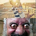 When boys stare into girl's eyes…