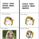 Girls without makeup