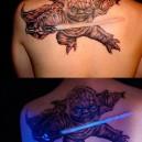 Glow in the dark Yoda Tattoo